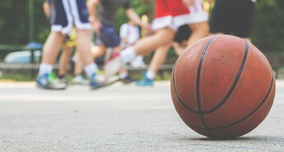 sports governance - close up of basketball