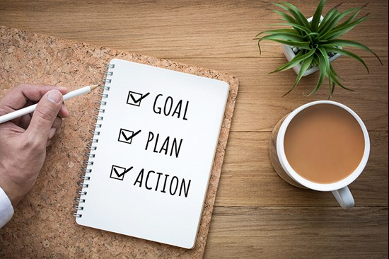 Checklist of goal, plan and action