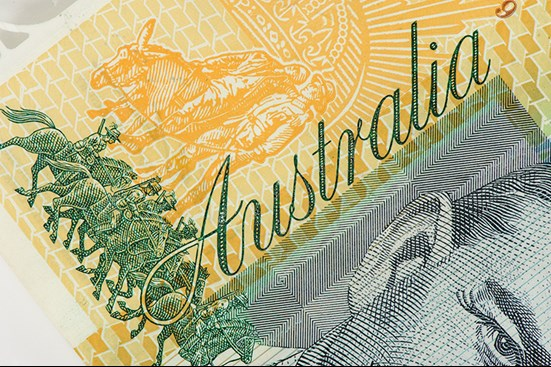 Close up of Australian bank note